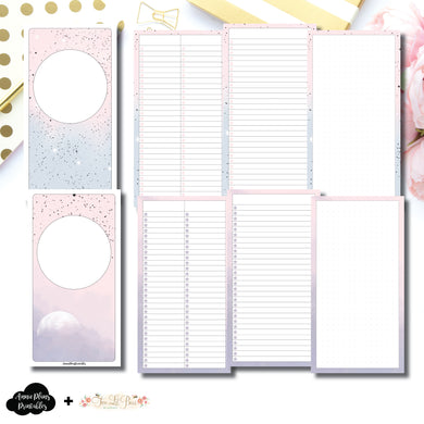 Standard TN Size | Lists & Notes TwoLilBees Collaboration Bundle Printable Inserts ©
