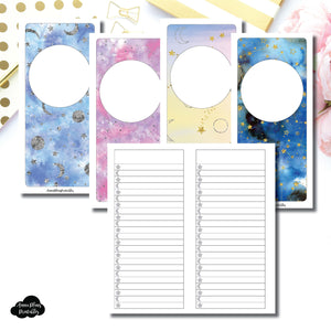 HWeeks Wide SIZE | Blank Covers + Celestial Lists Printable Insert ©