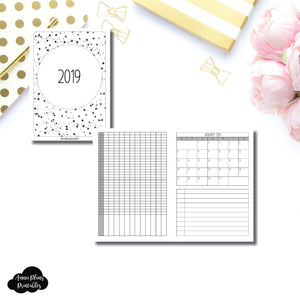 A6 Rings Size | 2019 Monthly Important Dates with Tracker Printable Insert ©