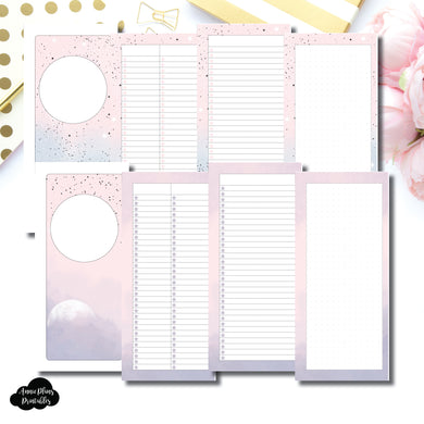 Half Page HP Size | Lists & Notes TwoLilBees Collaboration Bundle Printable Inserts ©