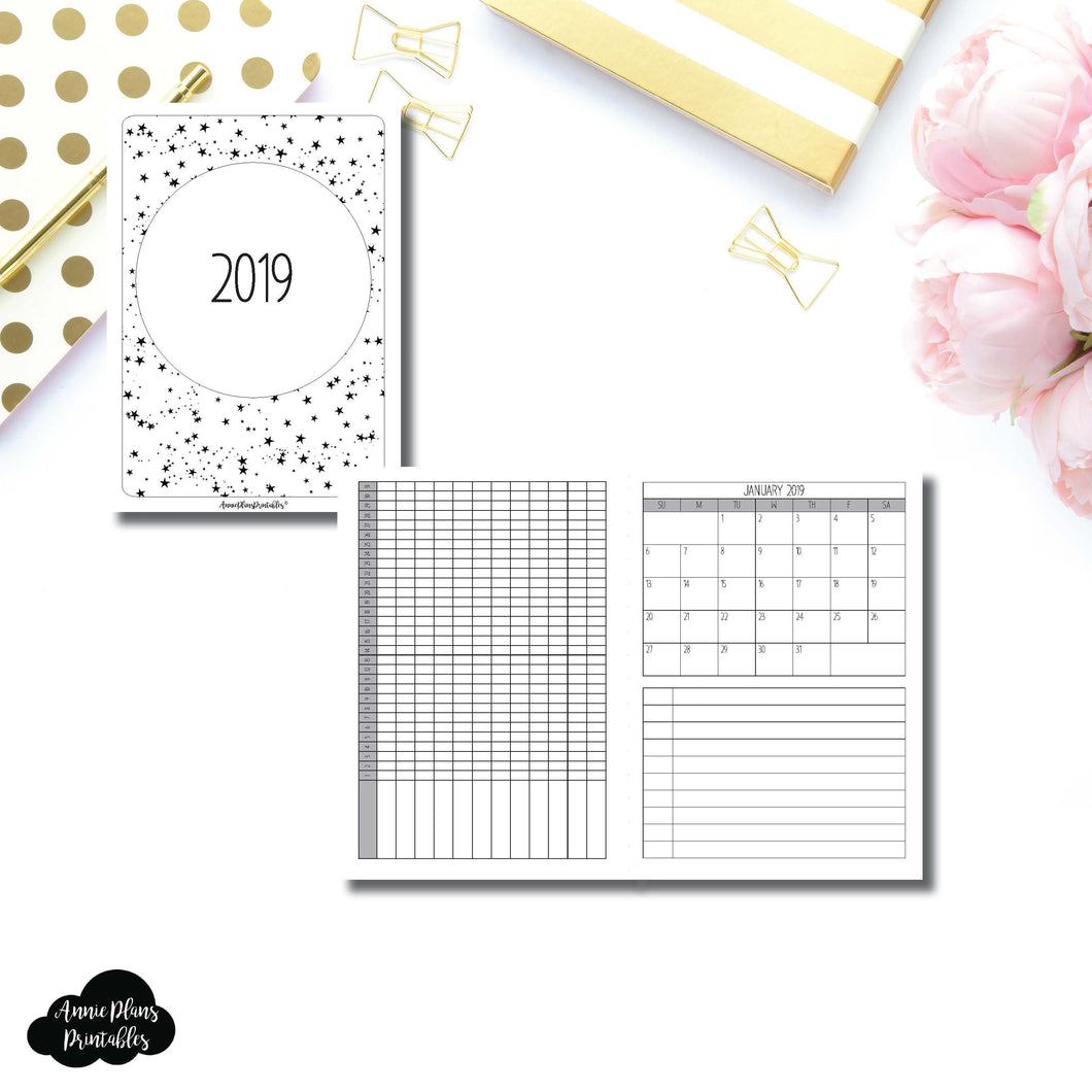 B6 TN Size | 2019 Monthly Important Dates with Tracker Printable Insert ©