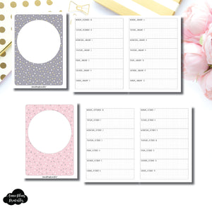A6 TN Size | OCT 2019 - DEC 2020 Week on 1 Page Layout (Monday Start) Printable Insert ©