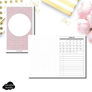 Mini HP Size | 2019 Monthly Dated Important Dates with Dot Grid Printable Insert ©