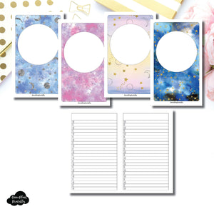 B6 Slim TN SIZE | Blank Covers + Celestial Lists Printable Insert ©