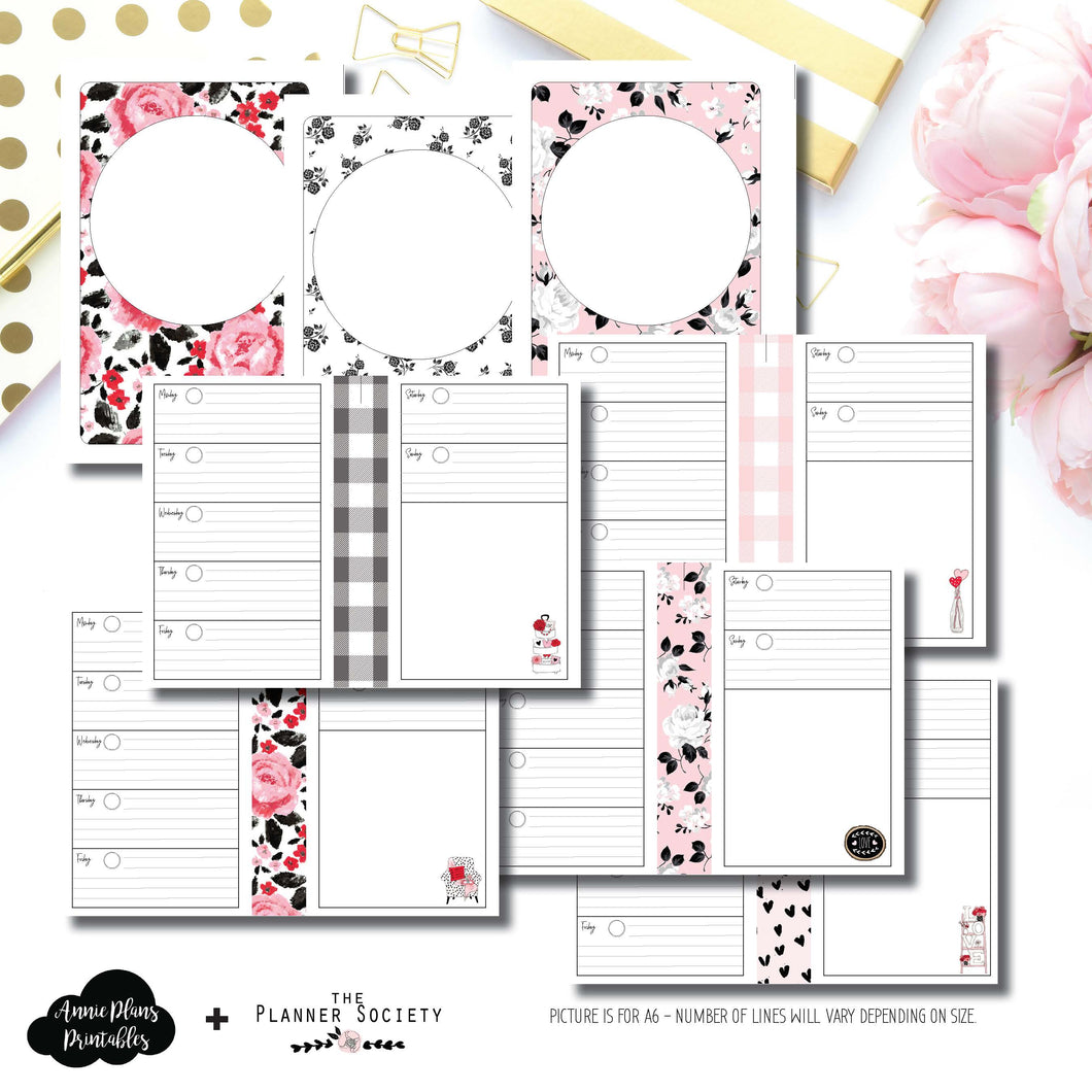 A6 Rings Size | Limited Edition TPS Valentines Collaboration Printable Insert ©