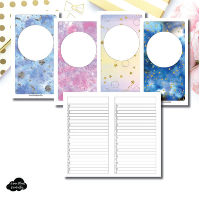 Personal TN SIZE | Blank Covers + Celestial Lists Printable Insert ©