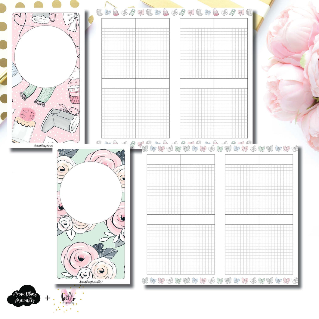 HWeeks Wide Size | Limited Edition HelloPetitePaper Collaboration Printable Inserts ©