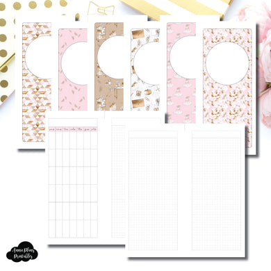 Half Page HP Size | Undated Monthly Memory Keeping Printable Insert ©