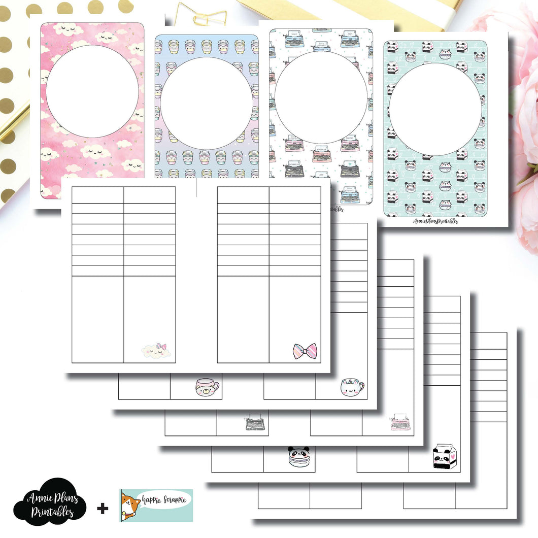Pocket Rings Size | HappieScrappie Lists/Weekly Collaboration Printable Insert ©