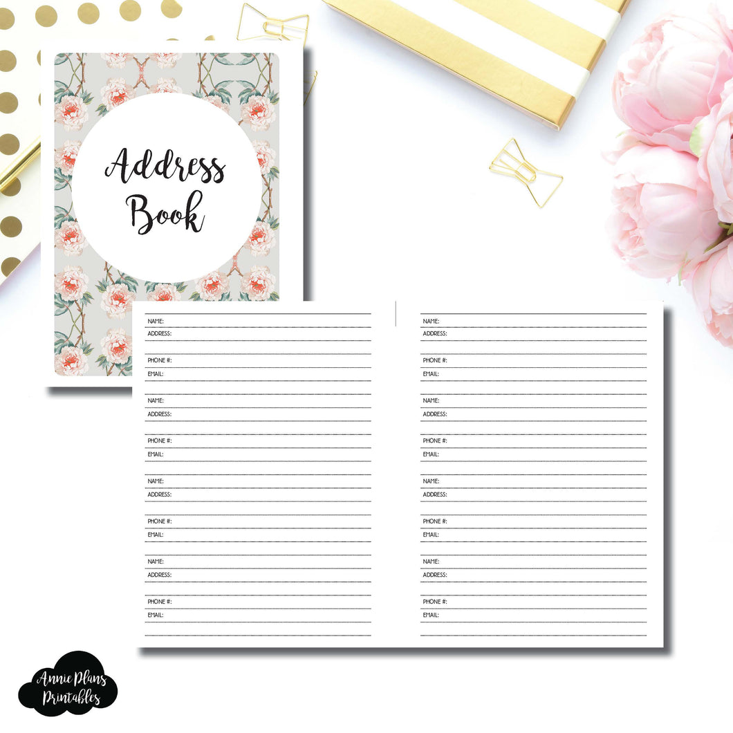 B6 Rings SIZE | Address Book Printable Insert ©