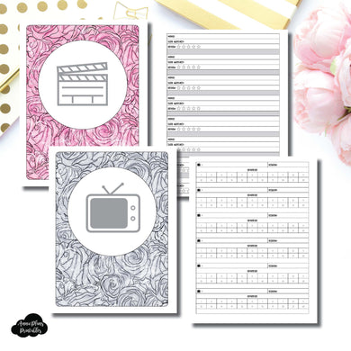Classic HP Size | TV & Movie Tracker Bundle Printable Insert ©