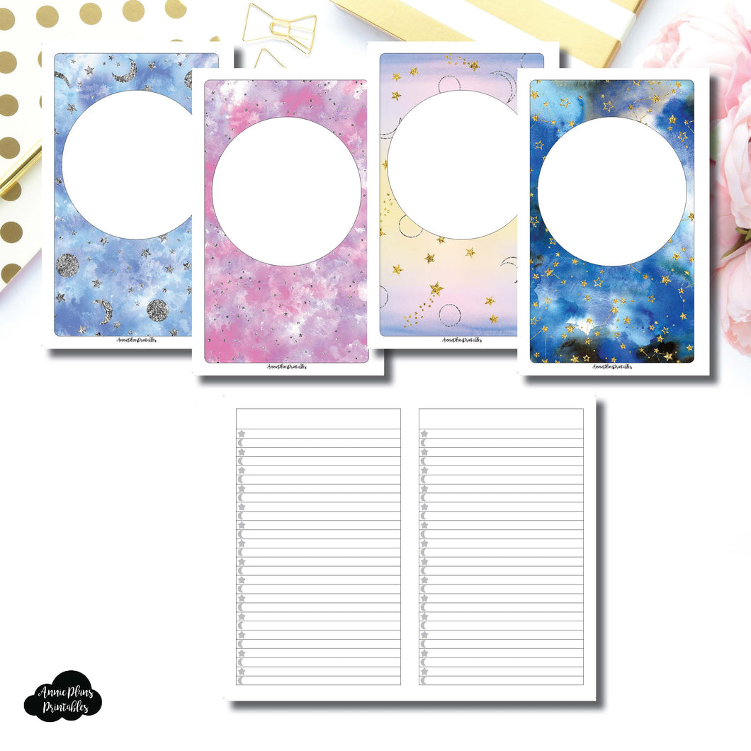 Cahier TN SIZE | Blank Covers + Celestial Lists Printable Insert ©