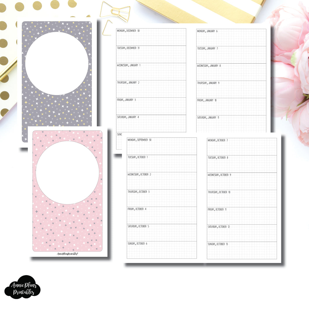 B6 Slim TN Size | OCT 2019 - DEC 2020 Week on 1 Page Layout (Monday Start) Printable Insert ©