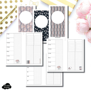 Personal Rings Size | Undated Week on 2 Page Collaboration Printable Insert ©