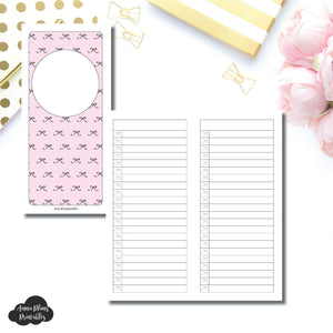 H Weeks Size | Bow List Printable Insert ©
