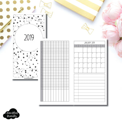 Standard TN Size | 2019 Monthly Important Dates with Tracker Printable Insert ©