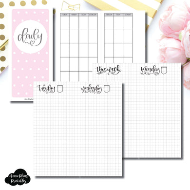H Weeks Size | SeeAmyDraw Undated Daily Grid Collaboration Printable Insert ©