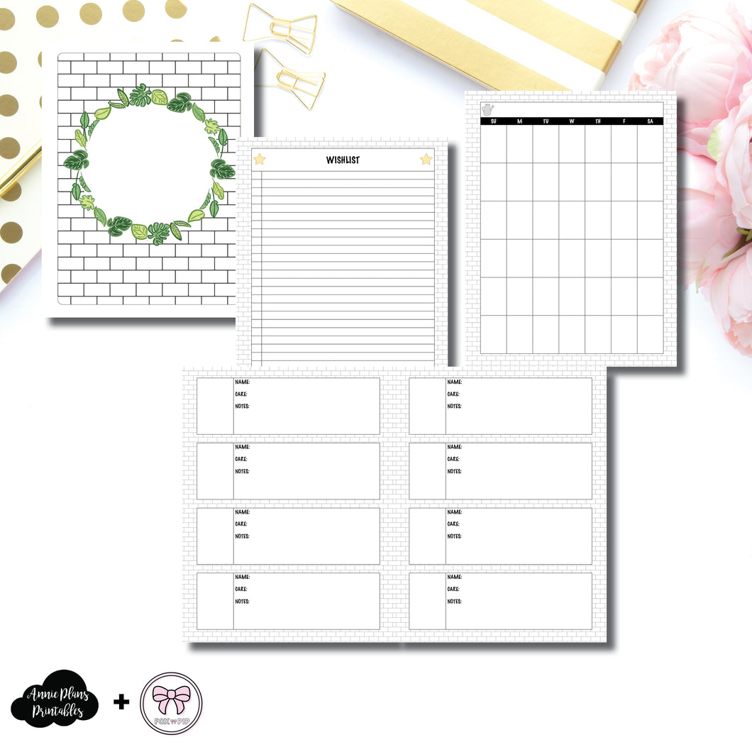 A5 Wide Rings Size | Plant Care - Fox & Pip Collaboration Printable Insert ©