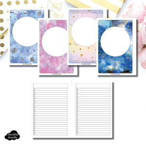 Personal Wide Rings SIZE | Blank Covers + Celestial Lists Printable Insert ©