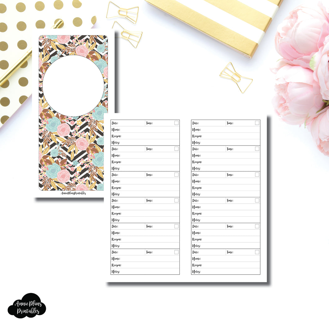 HWeeks Wide Size | Appointment Tracker Printable Insert ©