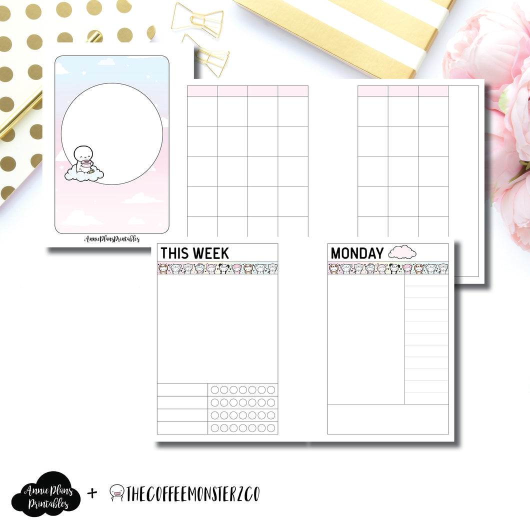 Micro TN Size | TheCoffeeMonsterzCo Undated Daily Collaboration Printable Insert ©