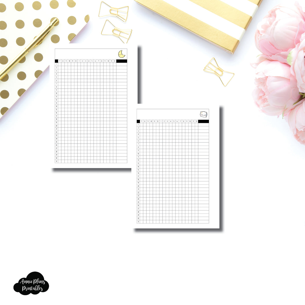 FREEBIE Personal Wide Rings Size | Sleep Tracker Printable