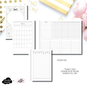 Mini HP Size | 15 Month (OCT 2019 - DEC 2020) + Tracker Fold Over EllePlan Collaboration Printable Insert ©