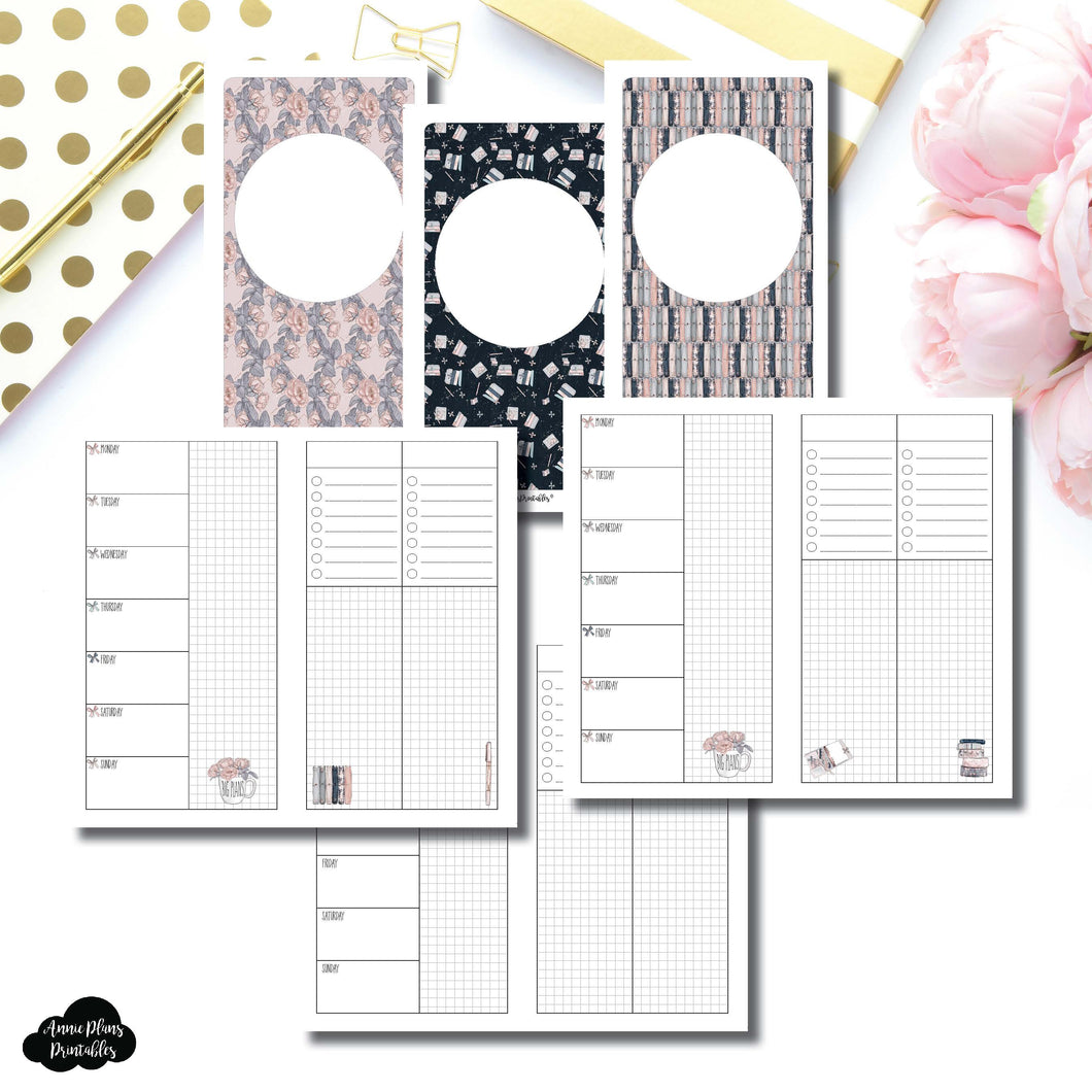 Personal TN Size | Undated Week on 2 Page Collaboration Printable Insert ©