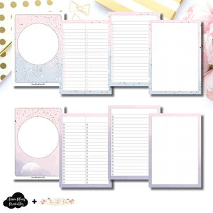 A6 TN Size | Lists & Notes TwoLilBees Collaboration Bundle Printable Inserts ©