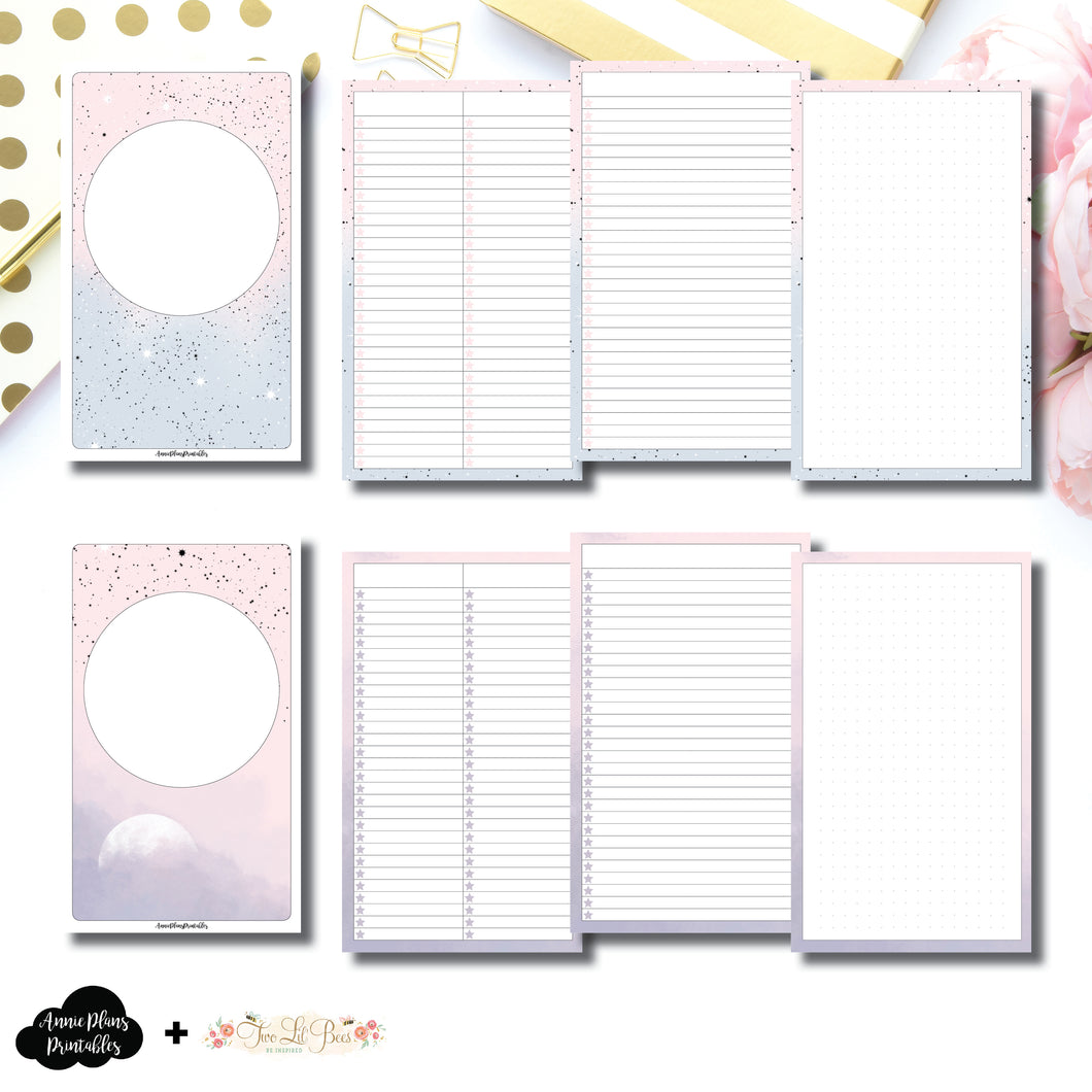 Cahier TN Size | Lists & Notes TwoLilBees Collaboration Bundle Printable Inserts ©