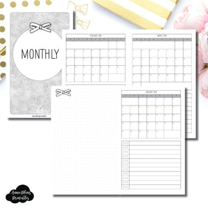 Cahier TN Size | 2019 Single Page Monthly Printable Insert ©