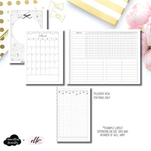 FC Rings Size | 15 Month (OCT 2019 - DEC 2020) + Tracker Fold Over EllePlan Collaboration Printable Insert ©