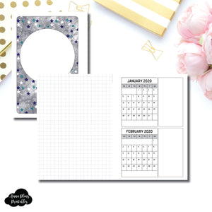A6 Rings Size | 18 Month (JAN 2020 - JUN 2021) Forward Planning Printable Insert ©