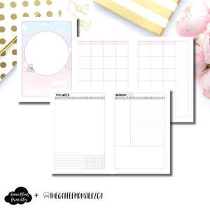 A5 Rings Size | TheCoffeeMonsterzCo Undated Daily Collaboration Printable Insert ©