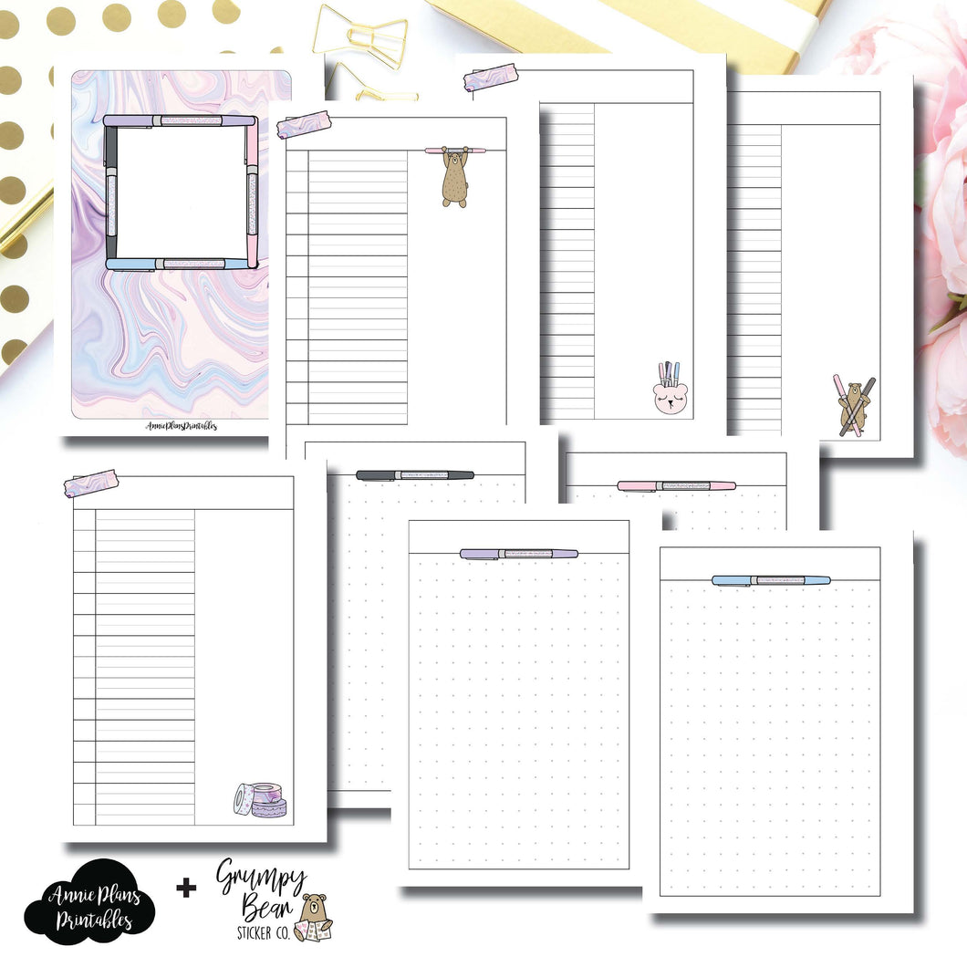 A6 Rings Size | Grumpy Bear 2.0 Collaboration Printable Insert ©