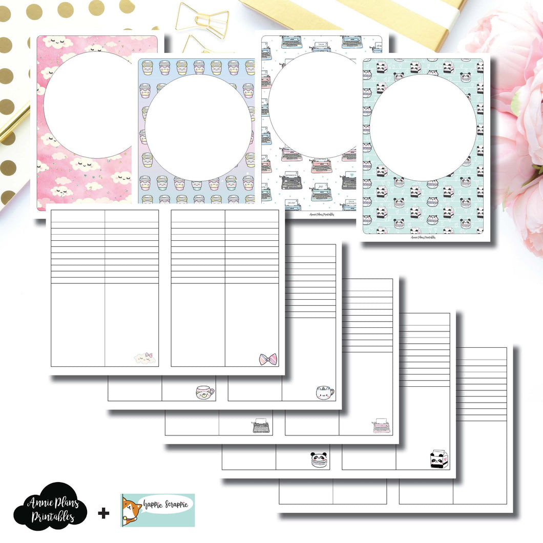 B6 TN Size | HappieScrappie Lists/Weekly Collaboration Printable Insert ©