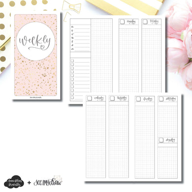 Personal TN Size | SeeAmyDraw Undated Weekly Collaboration Printable Insert ©