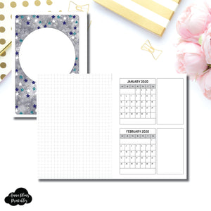 Personal Wide Rings Size | 18 Month (JAN 2020 - JUN 2021) Forward Planning Printable Insert ©