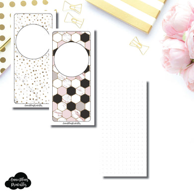 H Weeks Size | Plain DOT GRID Printable Inserts ©