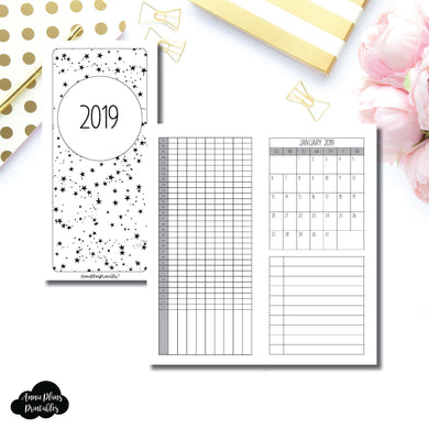 H Weeks Size | 2019 Monthly Important Dates with Tracker Printable Insert ©
