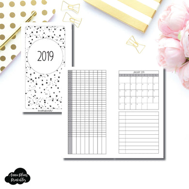 Personal Rings Size | 2019 Monthly Important Dates with Tracker Printable Insert ©