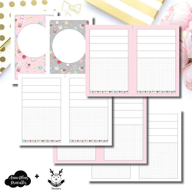 Half Letter Rings Size | New Weeks Horizontal Layout - HappyDaya Collaboration Printable Insert ©