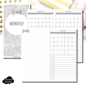 Standard TN Size | 2019 Single Page Monthly Printable Insert ©