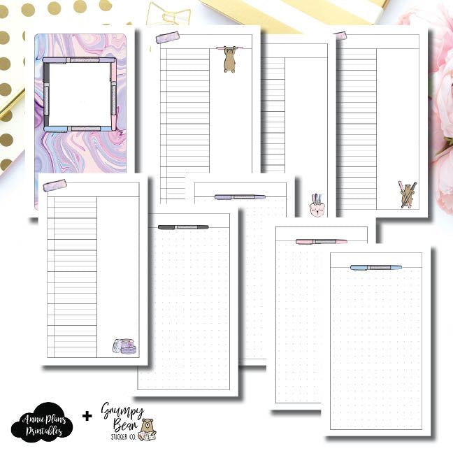 Personal TN Size | Grumpy Bear 2.0 Collaboration Printable Insert ©