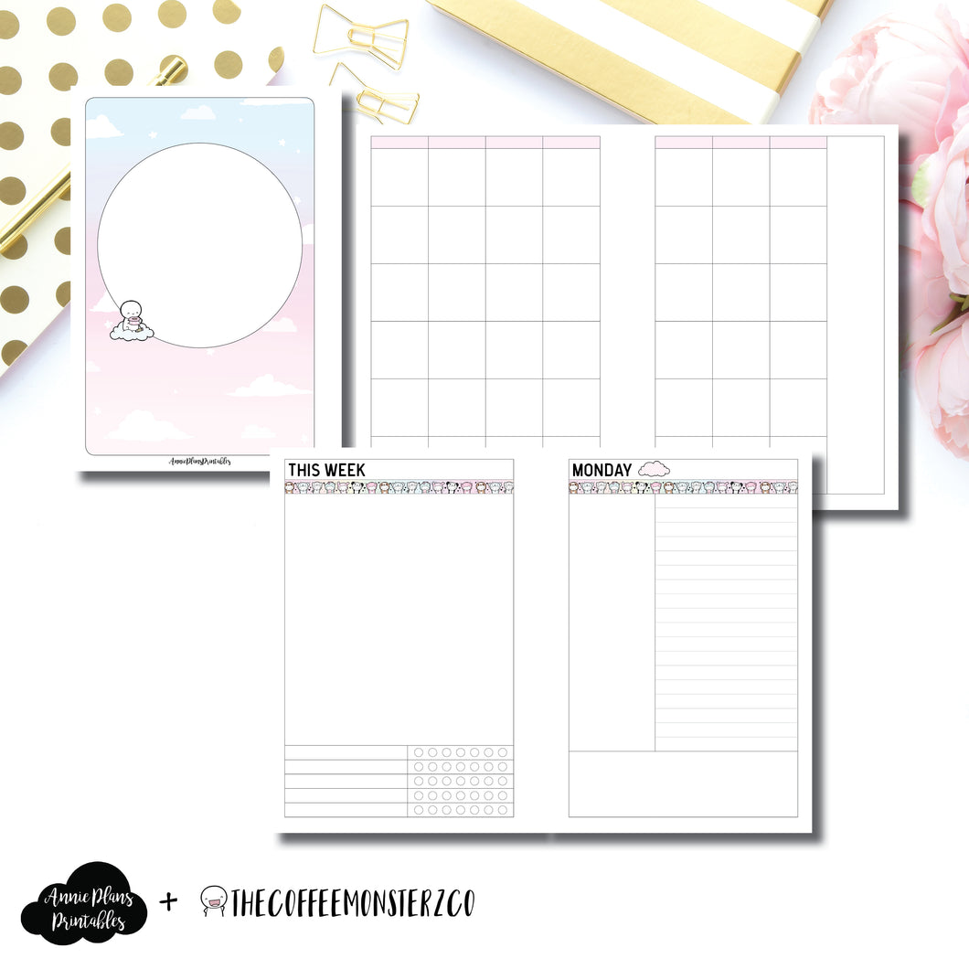 Personal Wide Rings Size | TheCoffeeMonsterzCo Undated Daily Collaboration Printable Insert ©