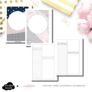 H Weeks Size | Sparkly Paper Co Collaboration Printable Insert ©