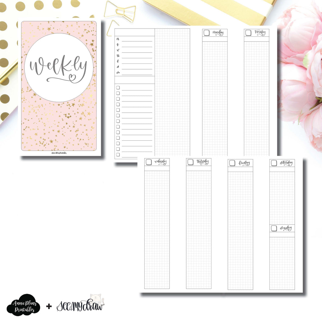 Cahier TN Size | SeeAmyDraw Undated Weekly Collaboration Printable Insert ©