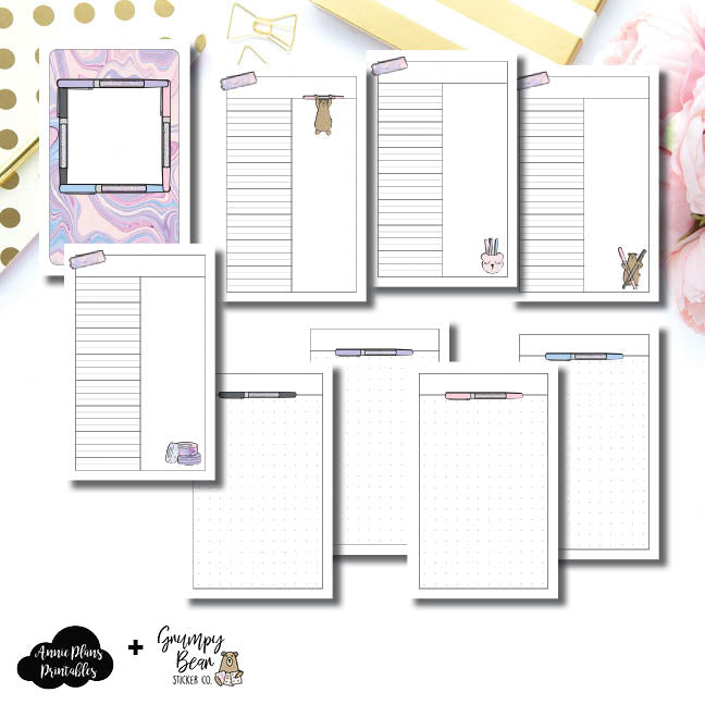 Pocket TN Size | Grumpy Bear 2.0 Collaboration Printable Insert ©