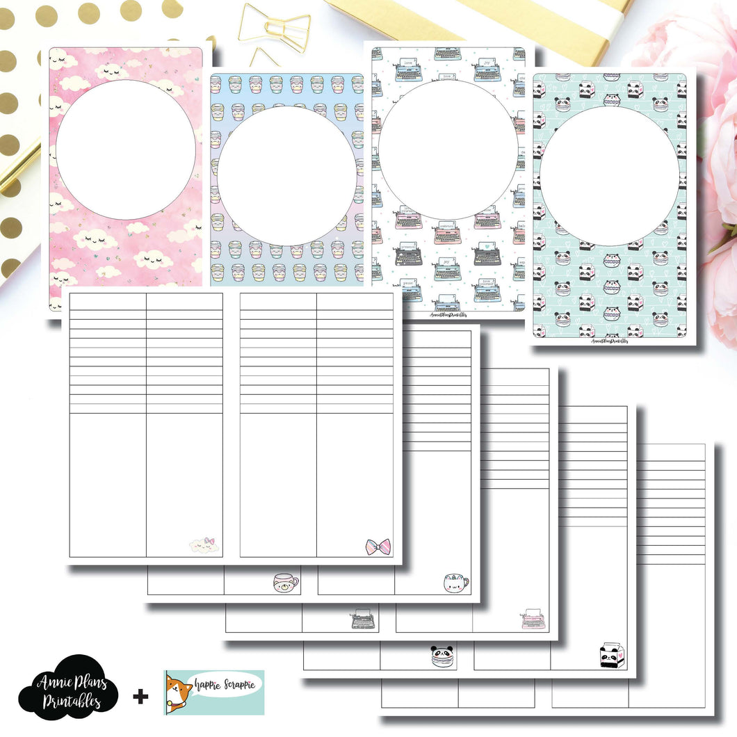 Cahier TN Size | HappieScrappie Lists/Weekly Collaboration Printable Insert ©
