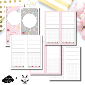 H Weeks Size | New Weeks Horizontal Layout - HappyDaya Collaboration Printable Insert ©